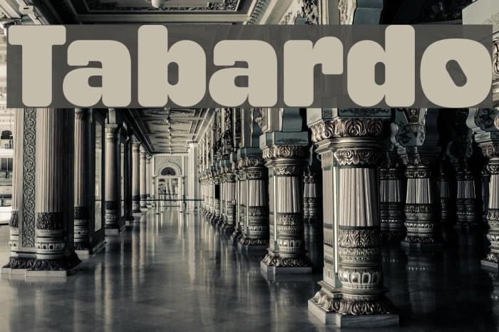 Tabardo फ़ॉन्ट examples