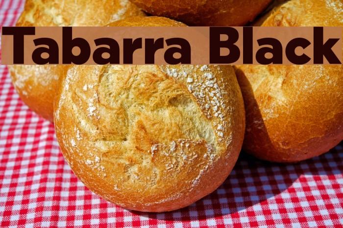 Tabarra Black फ़ॉन्ट examples