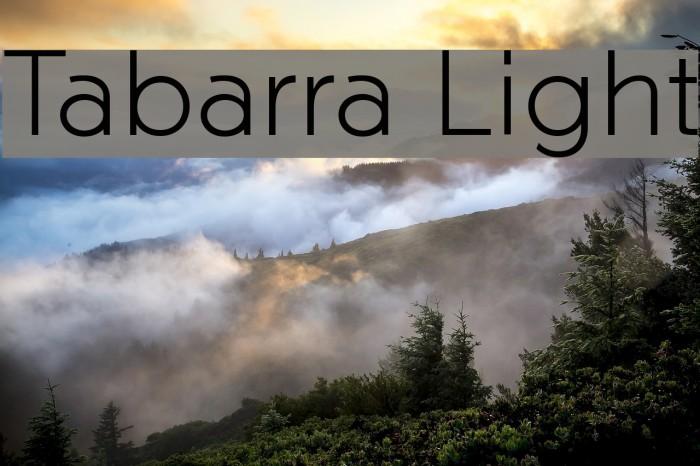 Tabarra Light फ़ॉन्ट examples