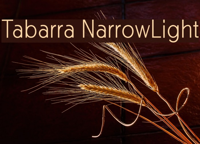 Tabarra NarrowLight Font examples