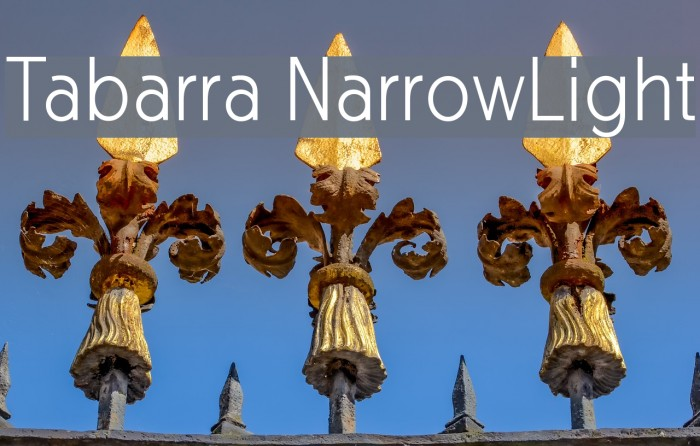 Tabarra NarrowLight फ़ॉन्ट examples