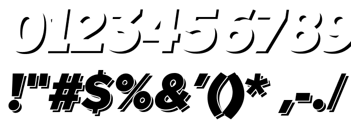 TabarraShadow-Italic फ़ॉन्ट अन्य घर का काम