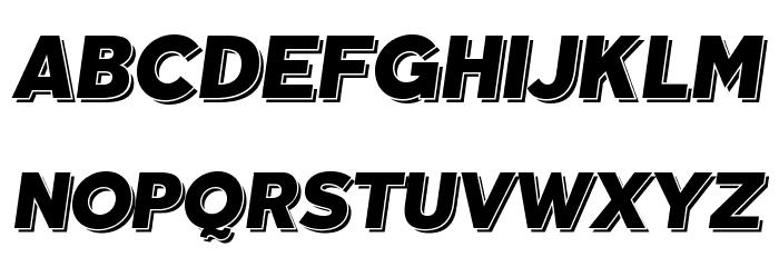 TabarraShadow-Italic फ़ॉन्ट अपरकेस