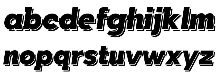 TabarraShadow-Italic फ़ॉन्ट लोअरकेस