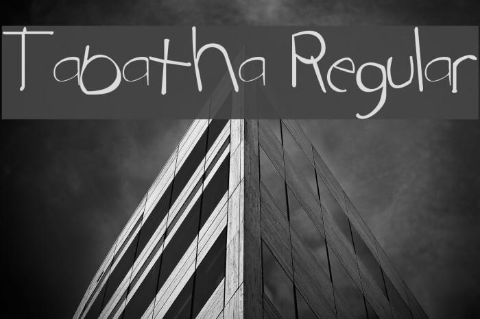 Tabatha Regular Fonte examples