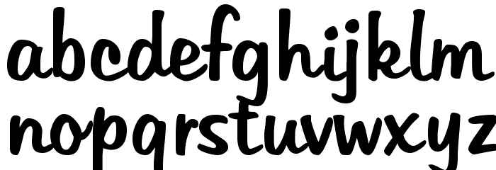 Tabitha Font LOWERCASE