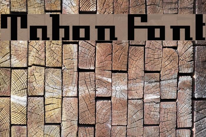 Tabon Шрифта examples
