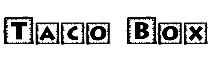 Taco Box  Скачать бесплатные шрифты