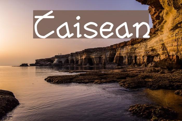 Taisean Font examples