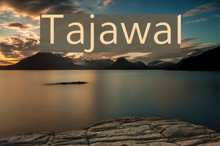 Tajawal Font examples