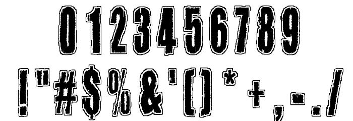 One hour per second 2 Шрифта ДРУГИЕ символов