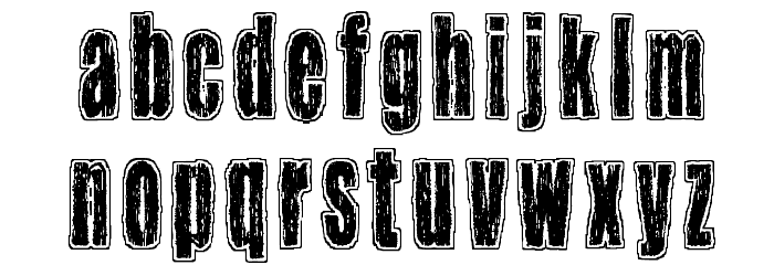 One hour per second Font Litere mici