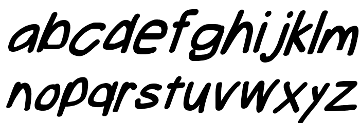 Take Off, Hosehead Font LOWERCASE