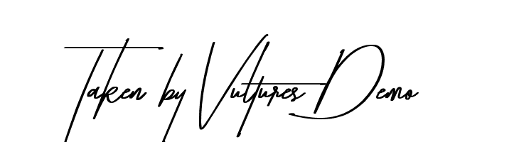 Taken by Vultures Demo  Free Fonts Download