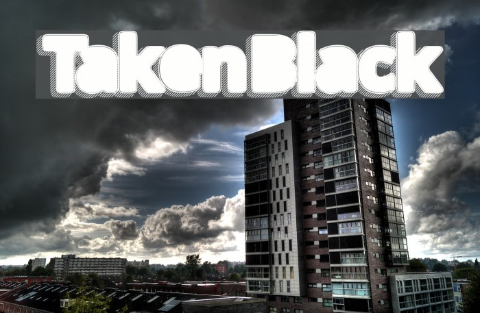 TakenBlack Font examples
