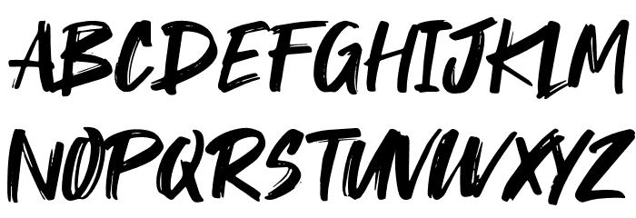 Takota Font UPPERCASE