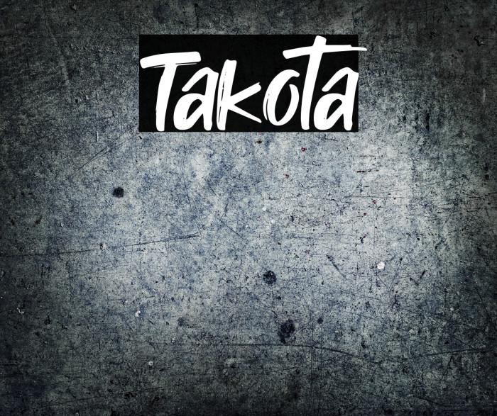 Takota फ़ॉन्ट examples