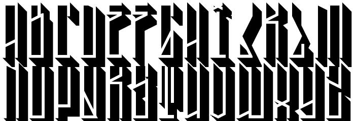 Tall Boy 3D Regular Font UPPERCASE