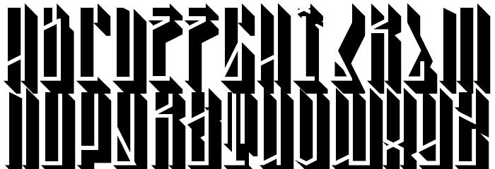 Tall Boy 3D Regular Font LOWERCASE