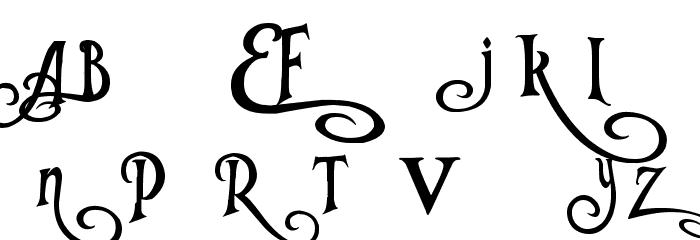 Tangled Font UPPERCASE