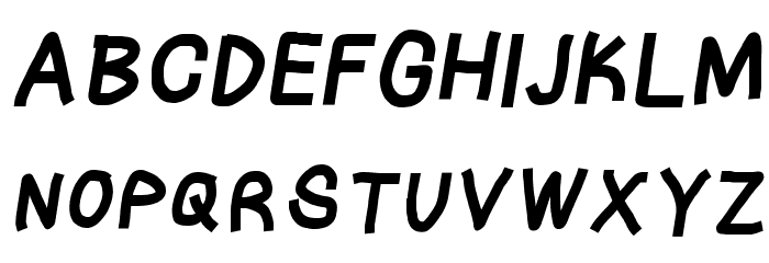 Tape Italic फ़ॉन्ट अपरकेस