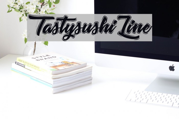 TastysushiLine Font examples