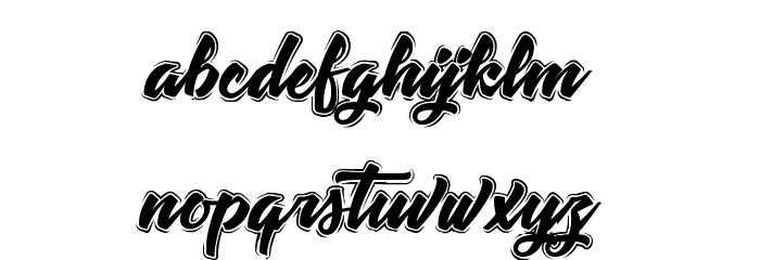 TastysushiLine Font LOWERCASE