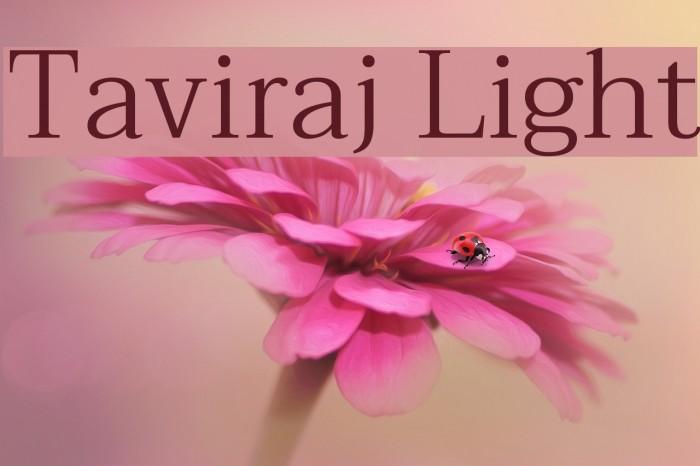 Taviraj Light Font examples