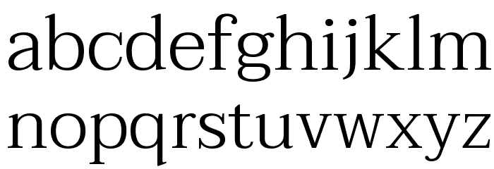 Taviraj Light Font LOWERCASE