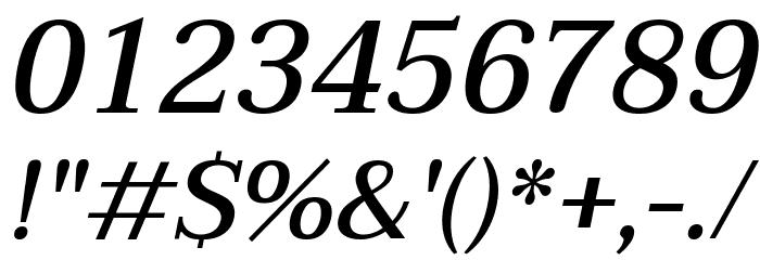 Taviraj Medium Italic Шрифта ДРУГИЕ символов