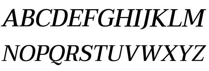 Taviraj Medium Italic Шрифта ВЕРХНИЙ
