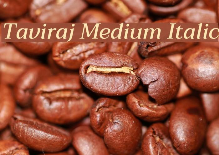 Taviraj Medium Italic Шрифта examples