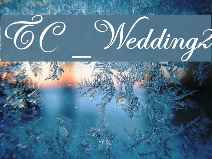 TC _Wedding2 Caratteri examples