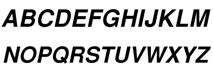 TeXGyreHeros-BoldItalic Font Litere mari