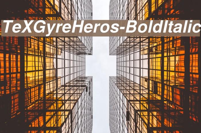 TeXGyreHeros-BoldItalic Font examples