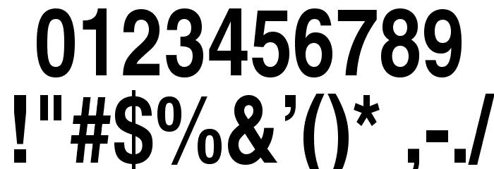 TeXGyreHerosCondensed-Bold Font OTHER CHARS