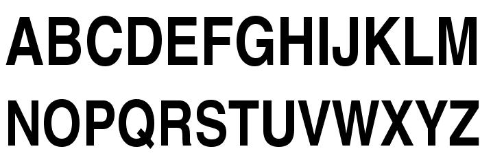 TeXGyreHerosCondensed-Bold Font UPPERCASE