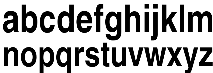 TeXGyreHerosCondensed-Bold Font LOWERCASE