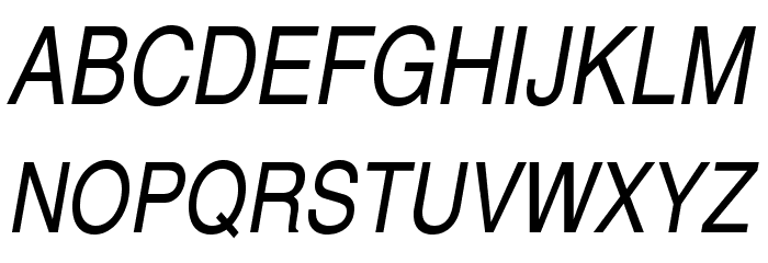 TeXGyreHerosCondensed-Italic Font UPPERCASE