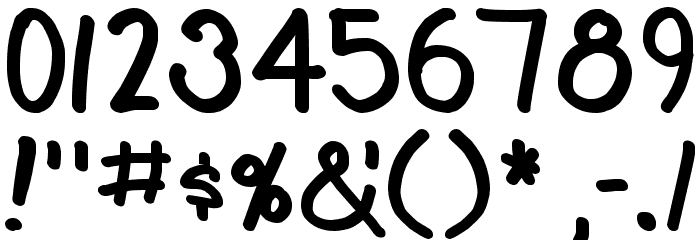 Teabeer Custom Bold Font OTHER CHARS
