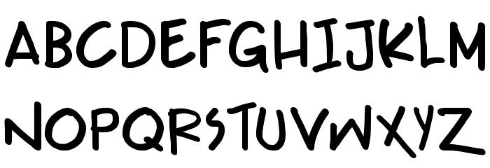 Teabeer Custom Bold Font UPPERCASE