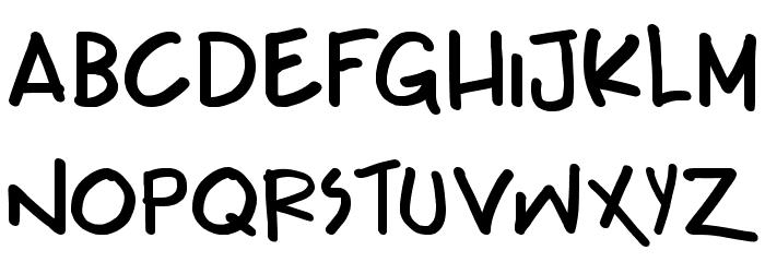 Teabeer Custom Bold Font LOWERCASE