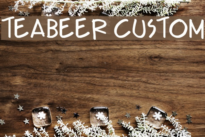 Teabeer Custom Font examples