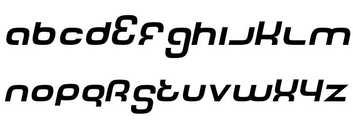 Tech Font Italic Fonte MINÚSCULAS