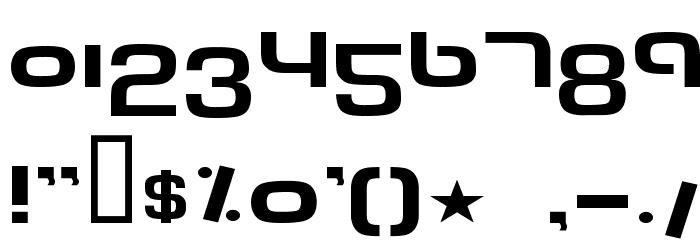 Tech Font Wide Font
