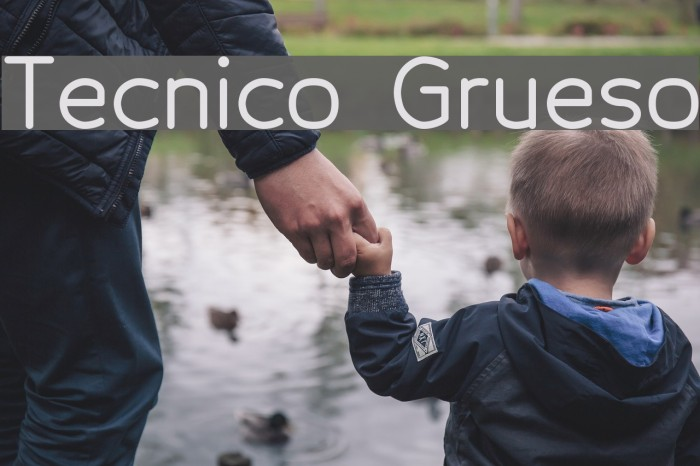 Tecnico Grueso Schriftart examples