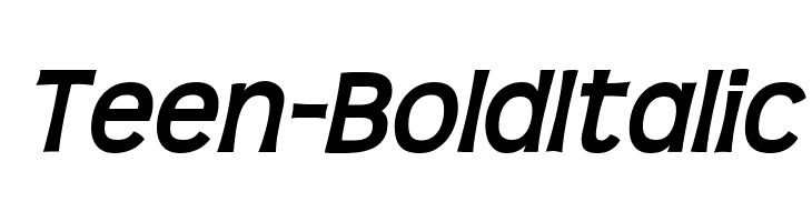 Teen-BoldItalic  Free Fonts Download
