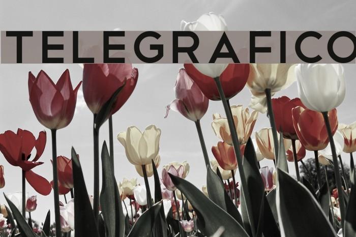 Telegrafico Font examples