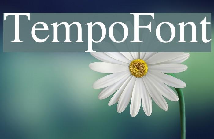 TempoFont Font examples