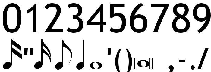 TempoIndicationsLiteTrebuchet Font OTHER CHARS